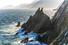 Sharp Edges (Ray Moloney Photography) Tags: ifttt 500px rocks cliffs atlantic ocean ireland coast islands silhouette seascape water sky blue travel waves county kerry slea head dingle sun rays light boat mist