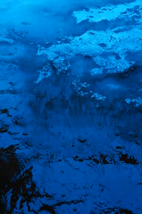 Lost Snow (georgekorunov) Tags: snow water melting dissolution blue abstract