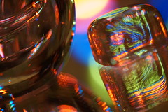 """Macro Mondays theme """"In the Mirror"""" (Wim van Bezouw) Tags: glass cube mirror abstract light led reflection macromondays inthemirror colours color"""