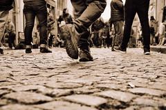Walk (Alejandro Vaccarili) Tags: santelmo buenosaires argentina calle street streetphotography walk walking caminar caminando empedrado adoquines paving stone paved