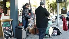 Upper Fillmore Random Acts of Jazz (Lynn Friedman) Tags: musicians jazz cello horn drums sidewalk shoppingdistrict 94115 friedman sanfrancisco