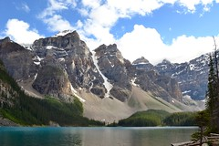 (its mb) Tags: outdoor landscape hill mountain lake moraine mountains banff water national park alberta canada clouds sky