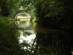 Embrace the day (Lancashire Lass ...... :) :) :)) Tags: bridge water canal trees reflection countryside quote august summer eastmarton northyorkshire leedsliverpoolcanal