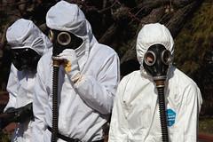 Anti-Nuke Protesters, Tokyo (El-Branden Brazil) Tags: japan japanese protest protesters antinuke antinuclear tokyo masks gasmasks asia asian