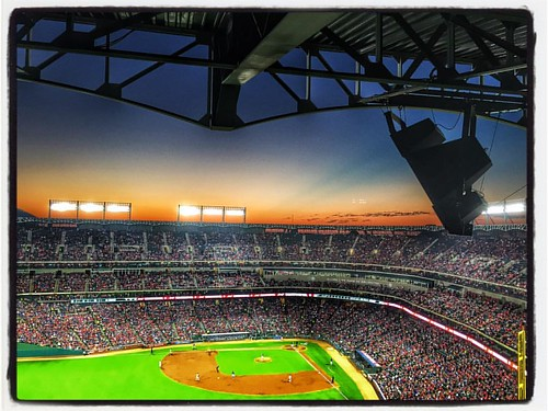 #beautiful night for #baseball #rangers