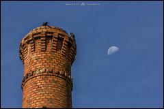 La Fabrica De Ladrillos. (MarioVolpi) Tags: argentina argentine chimenea ladrillo luna moon hdr