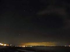 St Andrews and the Plough, 2016 Sep 05 (Dunnock_D) Tags: uk unitedkingdom britain scotland fife standrews night dark sky lights stars ursamajor plough bigdipper constellation asterism skyline