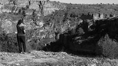 Parque Natural de las hoces del ro Duratn (pepe amestoy) Tags: blackandwhite landscape people segovia spain fujifilm xe1 carl zeiss t planar 250 zm