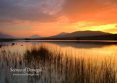 Sunset (www.scenesofdonegal.com) Tags: donegal failteireland northernheadlands wildatlanticway lake outdoors scenery sunset views walking