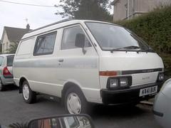 Nissan Vanette Camper (occama) Tags: k441buk nissan vanette camper wheelhome daneste old van white 1992 rare cornwall uk japanese small