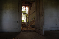 this way (History Rambler) Tags: old abandoned house home plantation antebellum rural south decay staircase window door forgotten lonely