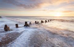 Spurn Sunrise (martinl3) Tags: spurnpoint coast northsea sunrise waves england shingle groynes defence coastal