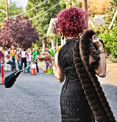 Paparazzi (landbergmary) Tags: conceptualphotography conceptualportrait conceptualphotographer pride happy people uninhibited uniqueness colorful marylandberg streetphotography gaypride parade lgbt dragqueen pearls diamonds mink