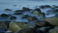 Smoky rocks (ekveronica) Tags: longexposure 10stop lee rocks beach norway photography nature wild sea ocean waves soft smokey blue stein