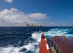 Crashrail (SPMac) Tags: sea brazil white wet water brasil boats wire control crash offshore ships floating rail windy pins basin storage deck anchor oil production service tug heading tension handler supply petrobras whaleback maersk fpso ahts asserter campoos