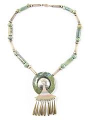20. Sterling and Hardstone Native American Necklace