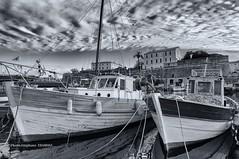 Cloudy April (steff808) Tags: blackandwhite bw france blancoynegro boat nikon barca noiretblanc corse corsica bateau ajaccio francia biancoenero corcega nikond90 nikon1685