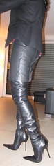 Which boots for eating out? (Rosina's Heels) Tags: leather high boots thigh heel stiletto