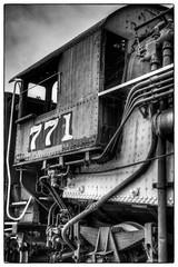 The 771 (Ian Aberle) Tags: train blackwhite downtown texas unitedstates tarantula photowalk handheld locomotive hdr grapevine ironhorse 2012 1913 lightroom 282 mk5 3xp photomatix october13th tonemapped 2ev detailsenhancer baldwinlocomotiveworks exif:focal_length=28mm exif:iso_speed=160 geo:state=texas canoneos7d silverefexpro scottkelbyworldwidephotowalk wwpw historicdowntowngrapevine geo:countrys=unitedstates exif:lens=ef28135mmf3556isusm camera:model=canoneos7d exif:model=canoneos7d ianaberle exif:aperture=35 geo:city=grapevine geo:lon=97081075 geo:lat=32932846666667 texasneworleansrailroadco vintagerailroadssteamlocomotive771