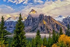 Sundown on Mt. Babel (Philip Kuntz) Tags: bravo alberta banff morainelake mtbabel flickrsfinestimages1 flickrsfinestimages2 flickrsfinestimages3