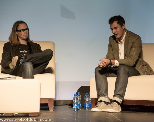 Paul Sciarra and Michael Birch: Web Summit 2012 In Dublin (Ireland)