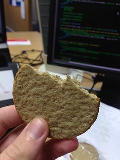 Sawdust covered cardboard ...aka rough oat cakes