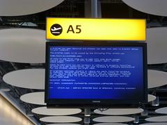 P1020332 (Blue Through Crimp) Tags: bluescreenofdeath bsod a5 windowserror departureboard londonheathrowairport