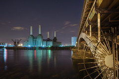 Starry night at Battersea power station (odin's_raven) Tags: london station night stars photography star nikon power raven battersea starry hdr batterseapowerstation nikor odins d700 odinsraven