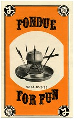 Fondue for Fun! (Alan Mays) Tags: old food orange japan vintage ads paper advertising typography stainlesssteel circles ephemera type osaka fondue folded 1960s recipes 1970s forks advertisements brochures fonts flyers printed logos borders notices fliers companies typefaces manufacturers skewers handbills hints leaflets yashima circulars fonduepots yashimaproducts