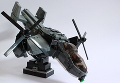 Dragonfire Gunship Front Side (Andreas) Tags: lego military eu vtol gunship dragonfire thepurge legovtol legogunship legoairvehicle eugunship