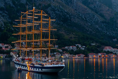 a schooner on the bay of Kotor, Montenegro (L F Ramos-Reyes) Tags: travel houses mountain sai