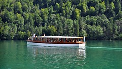 Boat tour of lake Knigssee (moorepix4u2c) Tags: lake germany glacier waterfalls boattour electricboat emeraldgreenwater berchtesgadennationalpark lakeknigssee