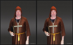 Halloween Monk (starg82343) Tags: stereoscopic 3d crosseye cross robe preacher father monk stereo bible hood stereopair pastor sidebyside parson minister friar chaplain rector stereoscopy stereographic freeview crossview clergyman xview manofthecloth hieromonk xeye