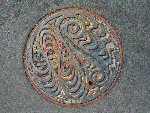 Manhole Cover, Wellington, New Zealand