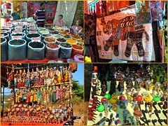 Anjuna Flea Market Collage (Eustaquio Santimano) Tags: india collage wednesday souvenirs clothing market goa jewellery anjuna planet lonely local flea expat vendors