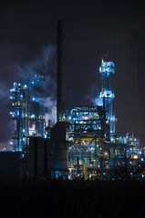 Saltend Plant (Cain Foot Photography) Tags: plant night lights nikon industrial smoke steam hull bp hdr saltend d7000