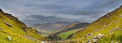 Into The Valley (stumpyheaton) Tags: sky panorama grass wales clouds landscape nikon rocks hills valley worlds end l moors denbighshire d5100