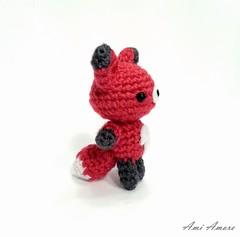 Fox side view (denae.amiamore) Tags: red cute animal handmade crochet yarn fox kawaii amigurumi