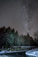Milky Way over la Tourne (Lucas Vuitel Photography) Tags: city light night dark stars photography lights nikon suisse nuit neuchtel toiles milkyway voielacte latourne d700 lucasvuitel