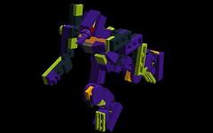Eva-01 (NimbusConflict) Tags: lego neongenesisevangelion mecha mech moc microscale mechaton mfz mf0 mobileframezero