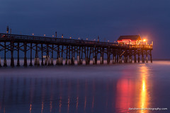 Cocoa Beach Pier (Dan Sherman) Tags: ocean beach water night lights pier seaside sand florida atlantic cocoa atlanticocean cocoabeach floridacoast