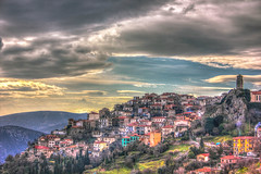 Arachova (Vagelis Pikoulas) Tags: blue trees houses winter light sunset sky sun house mountain mountains colour tree green night clouds canon landscape eos kiss europe niceshot view cloudy greece 1855mm hdr x4 2013 550d abigfave colorphotoaward bestcapturesaoi mygearandme mygearandmepremium mygearandmebronze ringexcellence dblringexcellence tplringexcellence photographyforrecreation musictomyeyeslevel1 eltringexcellence