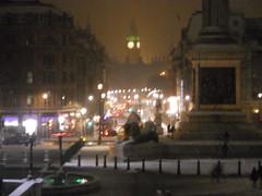 DSCN2185 (giuliaPunk) Tags: uk snow london night square trafalgar trafalgarsquare bigben londonnight londonlights