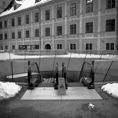 Joanneumsviertel (lennox_mcdough) Tags: winter bw snow 120 mamiya film rollei analog mediumformat austria iso200 österreich mamiya6 rodinal graz negativescan asa200 steiermark styria oesterreich rollfilm a94 mamiyag75mmf35l canoscan9000f rpx100 takenin2013