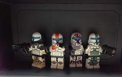 Delta Squad (minifigmaker) Tags: boss sev scorch starwarslego fixer republiccommando deltasquad