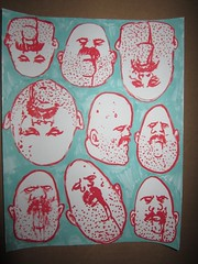 hand drawn stickers (andres musta) Tags: art sticker stickerart zombie stickers squad adhesive andres handstyles zas musta zombieartsquad