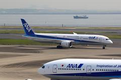 IMG_1400 JA830A (biggles7474) Tags: boeing 787 dreamliner ana all nippon airlines tokyo haneda international airport hnd b789 b7879 ja754a b777 rainbow bridge ja830a