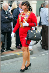 A lady of The Lodge (* RICHARD M (Over 5 million views)) Tags: street candid portraits portraiture streetportraits streetportraiture candidportraits candidportraiture loyalorangelodge lol orangeorder grandorangeorder orangemensday orangesash fashions style marcher marching thetwelfth 12thjuly southport sefton merseyside sectariansm militant struttingherstuff handbags marches marchers whitegloves gloves animalmagnetism character militarybearing presence attractrivewomen powerdressing enigmatic selfassured selfassurance aura womanly womanoftheworld headturner jenesaisquoi parades matriarch formidable