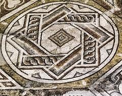 A beautiful geometric mosaic in the Loupian Roman Villa near Loupian, France. (mharrsch) Tags: roman villa loupian mosaic floor pavement architecture ancient gaul france mharrsch archaeology