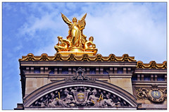 Old is Gold.. Paris Opera House Facade (Mohamed Essa) Tags: paris opera operadeparis operahouse travel statue gold old culture frenchculture france